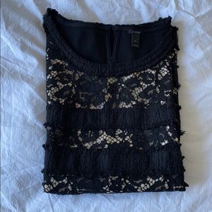 J. Crew new without tags sleeveless lace black top
